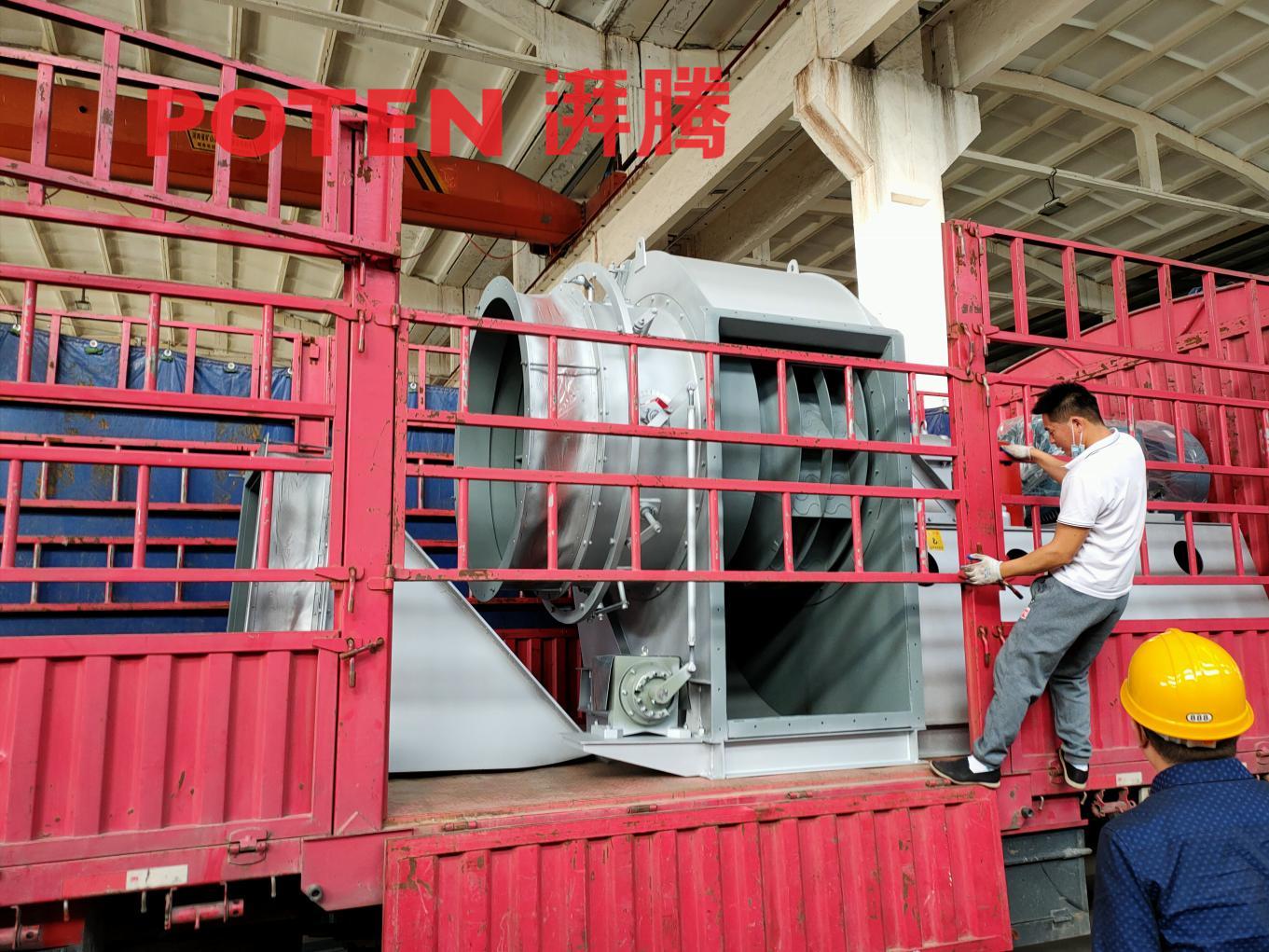 西藏客戶定制的除塵風機順利發貨